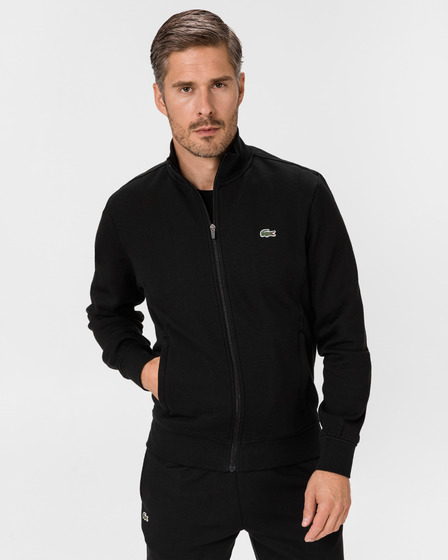 Lacoste Sport Cotton Blend Fleece Zip Pulover