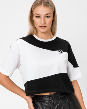 Converse Cut-And-Sew Oversized Cropped Majica