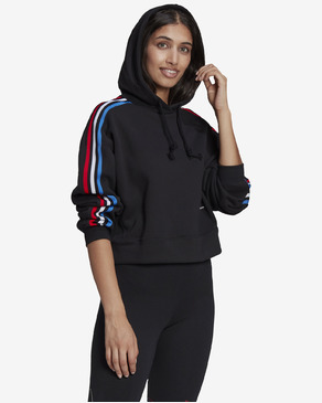 adidas Originals Adicolor Tricolor Trefoil Cropped Pulover